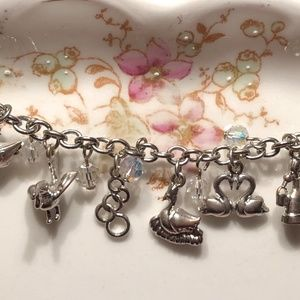 Twelve Days of Christmas Silver Charms Bracelet